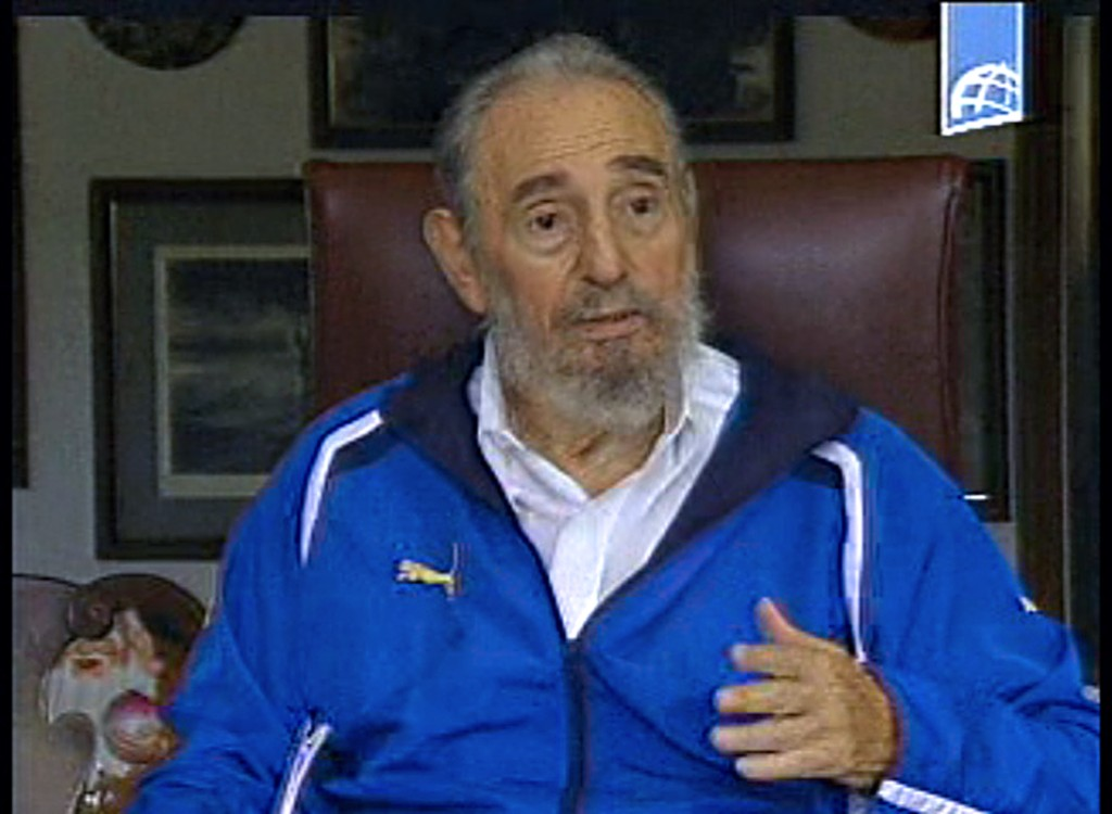 22 de agosto de 2009   Fidel Castro durante una reunión con estudiantes venezolanos. (Crédito: AFP/Getty Images)