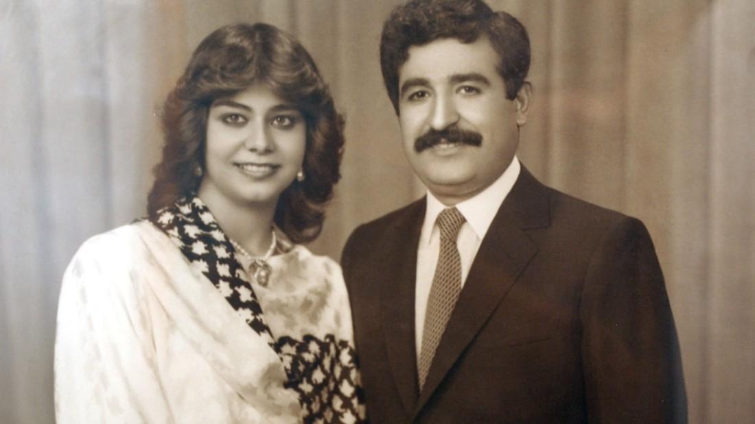 Raghad Hussein con su esposo, Hussein Kamel. Él fue asesinado en 1996 por los hombres de su padre, Saddam Hussein.