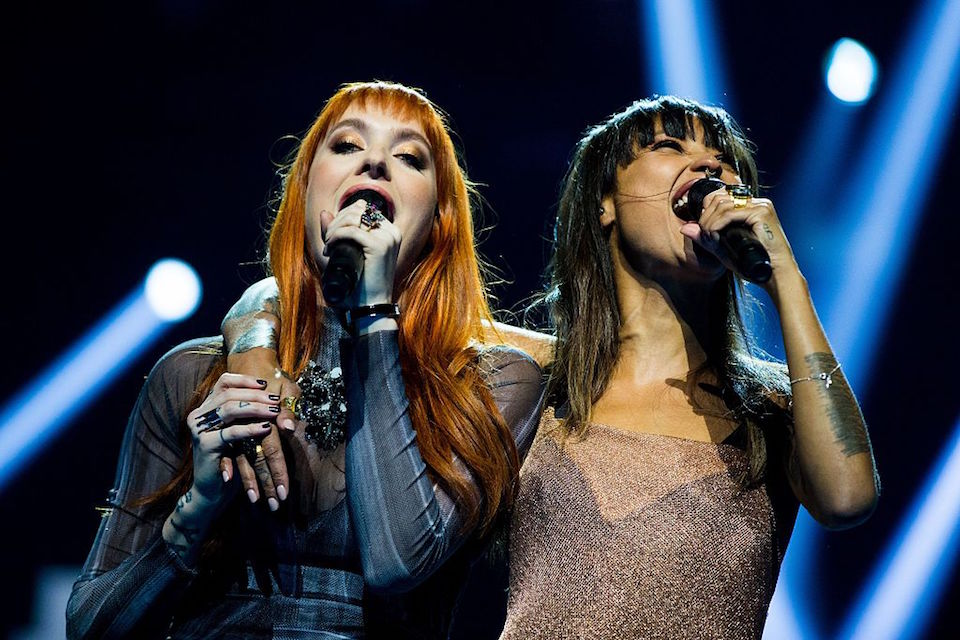 Swedish band Icona Pop perform during the 2016 Nobel Peace Prize Concert at Telenor Arena in Oslo, Norway, December 11, 2016. / AFP / NTB Scanpix / Vegard Wivestad GROTT (Photo credit should read VEGARD WIVESTAD GROTT/AFP/Getty Images)