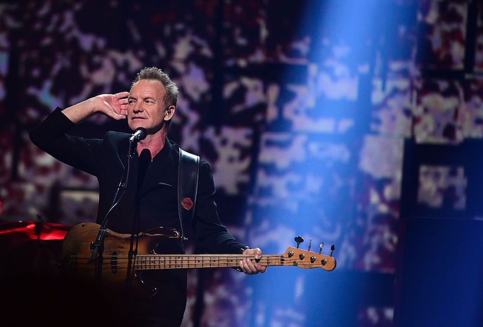 British singer Sting performs during the Nobel Peace Prize concert on December 11, 2016 in Oslo, Norway. / AFP / TOBIAS SCHWARZ (Photo credit should read TOBIAS SCHWARZ/AFP/Getty Images)