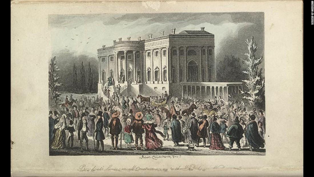 Dicen que la fiesta de la toma de posesión de Andrew Jackson fue una locura.