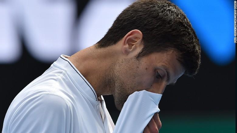 Novak Djokovic cayó de manera sorprendente en el Abierto de Australia del 2017 ante el número 117 del mundo, Denis Istomin.
