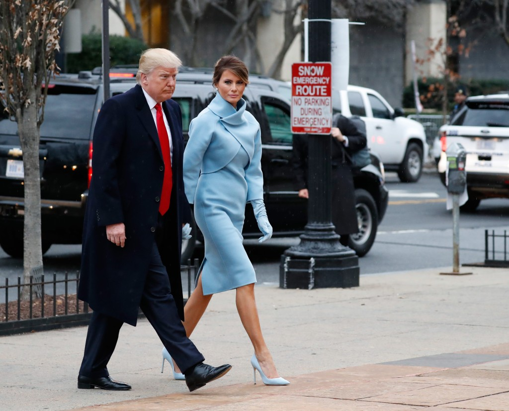 Donald Trump junto a su esposa Melania en el día de la Toma de Posesión