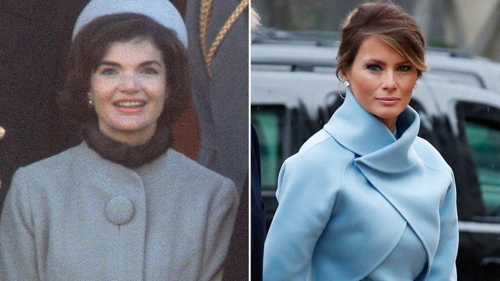 El vestido de Melania dio lugar a comparaciones con el que lució Jackie Kennedy en la toma de posesión de su marido.