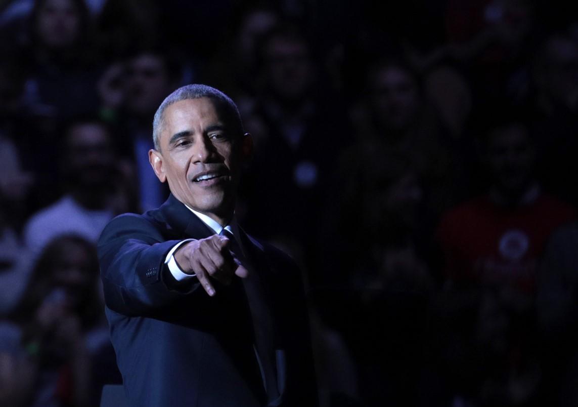 Barack Obama tras su discurso de despedida en Chicago. (Crédito: Bilgin Sasmaz/Anadolu Agency/Getty Images)