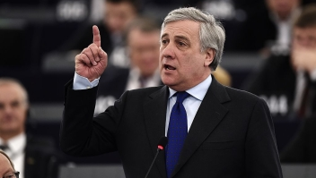 Member of the European People's Party Antonio Tajani delivers a speech during a session marking the election of the new President of the European Parliament in Strasbourg, eastern France, on January 17, 2016. The European Parliament elects a new president today in a vote that promises to be stormy after a coalition aimed at keeping eurosceptics out of power broke down / AFP / FREDERICK FLORIN (Photo credit should read FREDERICK FLORIN/AFP/Getty Images)