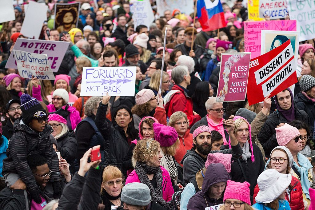 Miles de mujeres se manifestaron contra el presidente Donald Trump el pasado 21 de enero de 2017 en Washington, además de otras ciudades del mundo. (Crédito: ZACH GIBSON/AFP/Getty Images)