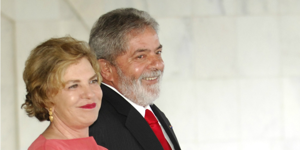 BRAZIL - NOVEMBER 28: The First Lady Mariza Leticia Lula da Silva and the President of Brazil Luis Inacio Lula da Silva visit the Palace of Itamaraty on November 28, 2007 in Rio De Janeiro, Brazil. (Photo by Fernanda Calfat/Getty Images)