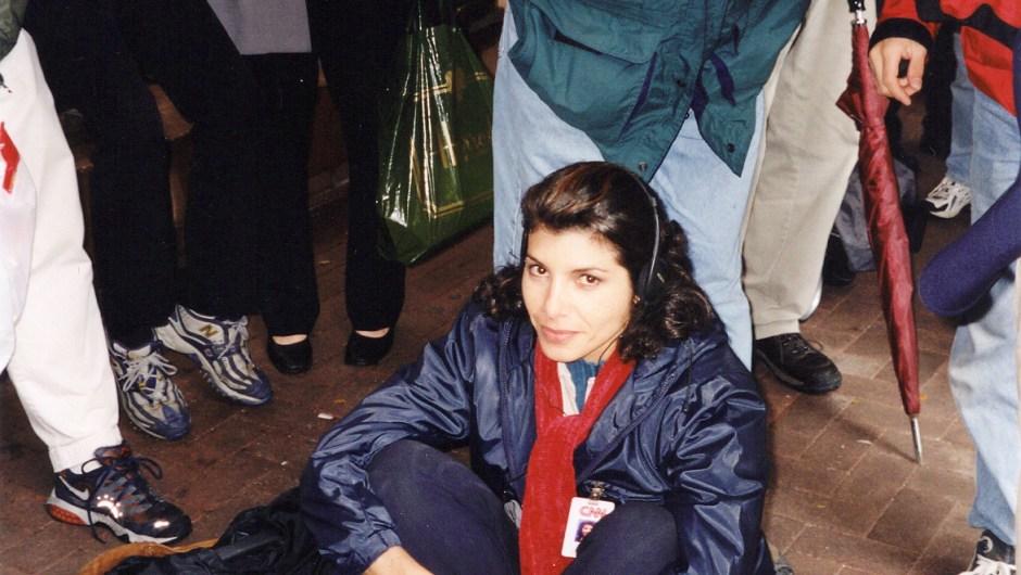 Patricia Janiot durante la cobertura de los atentados del 11 de septiembre de 2001.