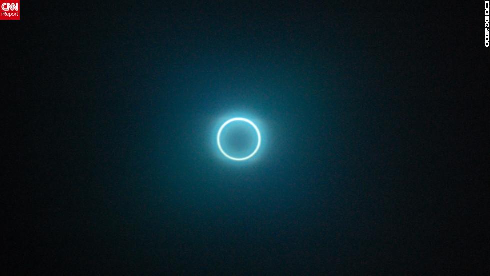 Así se ve un eclipse solar anular