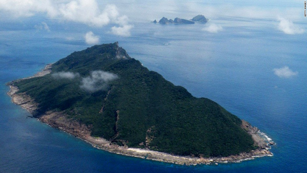 Estas disputadas islas en el Mar de China Oriental son conocidas como Senkaku en Japan y Diaoyu en China.