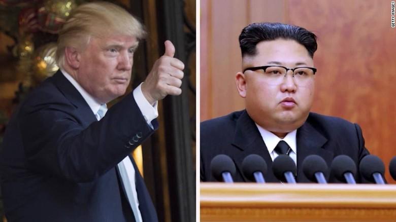 El presidente de Estados Unidos Donald Trump (izquierda) y el líder de Corea del Norte, Kim Jong Un.