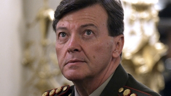 Picture of Argentine general Cesar Milani taken on November 11, 2013 before Argentine President Cristina Fernandez de Kirchner took oath to newly appoined ministers. Argentina's Congress on December 19, 2013 approved the chief of the army's promotion to a higher rank, lieutenant general, despite accusations of rights abuses during the country's 1976-83 military dictatorship. President Fernandez de Kirchner had backed army chief Cesar Milani's promotion to the rank of lieutenant general. AFP PHOTO / JUAN MABROMATA (Photo credit should read JUAN MABROMATA/AFP/Getty Images)