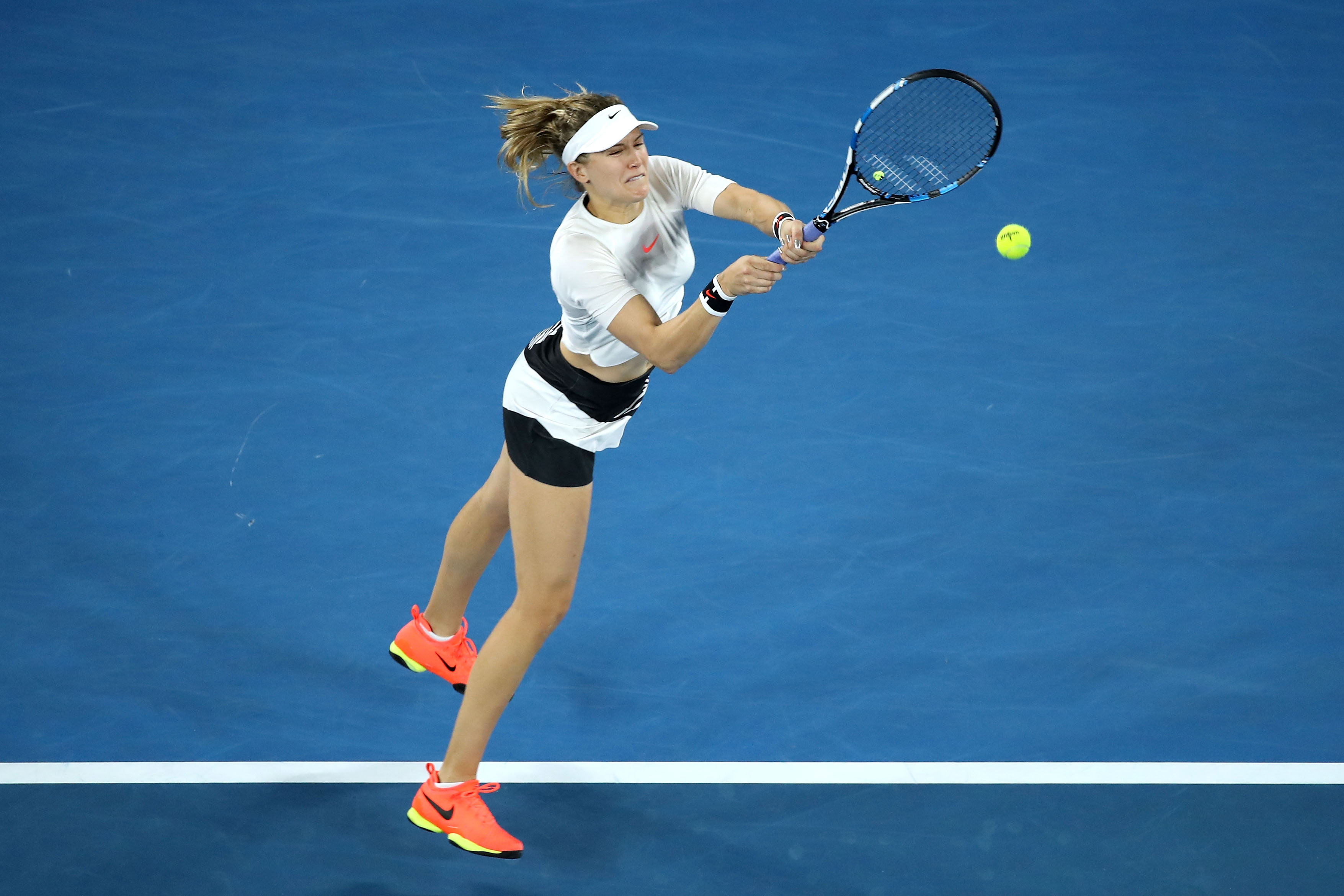 La canadiense Eugenie Bouchard durante un partido del reciente Abierto de Australia. (Crédito: Mark Kolbe/Getty Images)