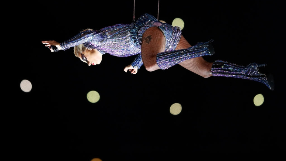 HOUSTON, TX - FEBRUARY 05: Lady Gaga performs during the Pepsi Zero Sugar Super Bowl 51 Halftime Show at NRG Stadium on February 5, 2017 in Houston, Texas. (Photo by Gregory Shamus/Getty Images)