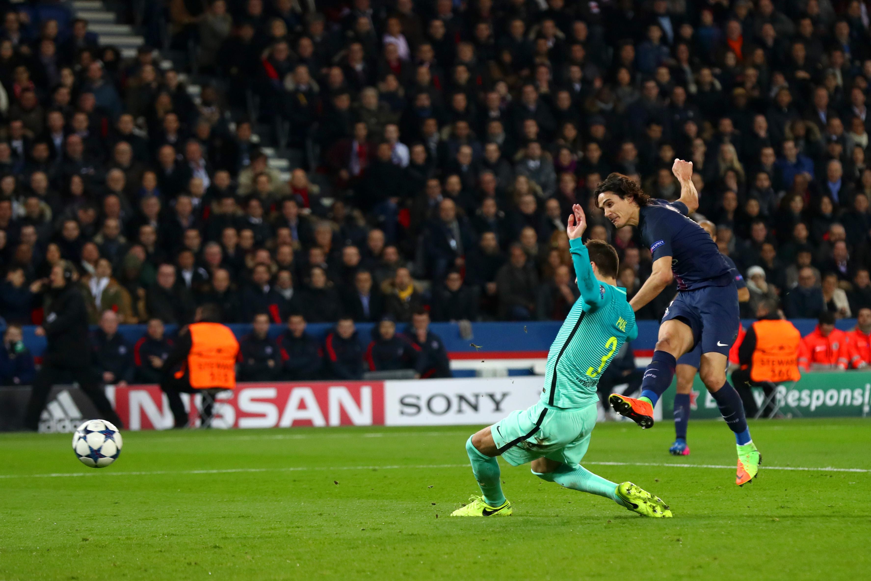 Edinson Cavani sentencia el partido a favor del PSG. (Crédito: Clive Rose/Getty Images)