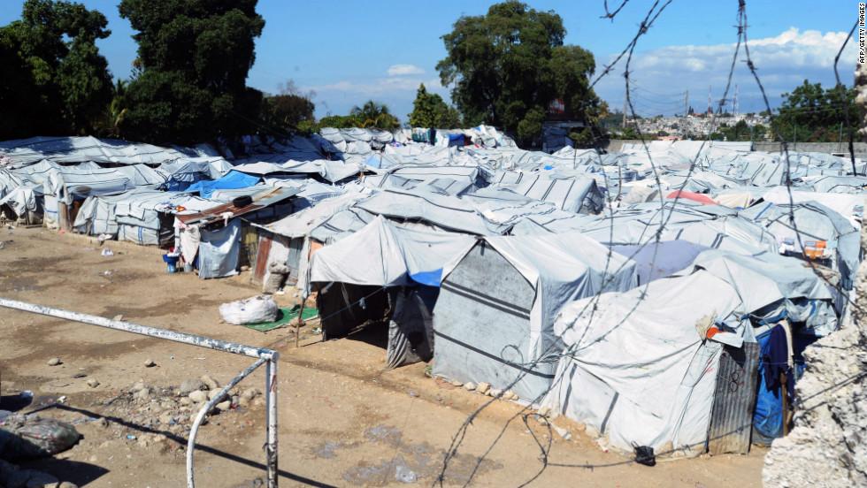 Uno de los campamentos temporales levantados tras el terremoto de Haití, en una foto del 2012 (dos años después del desastre natural).