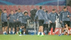 Real Madrid's players take part in a training session on the eve of the Champions League football match Napoli vs Real Madrid on March 6, 2017 at the San Paolo stadium in Naples. /