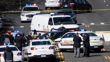 "CORRECTION - Police are at the scene on March 29, 2017 in Washington,DC as a driver was arrested near the US Capitol Wednesday after they drove into a police vehicle and then tried to run over several other officers who were on foot, police said. ""At some point, Capitol police apparently fired shots, but no one was struck,"" the Metropolitan Police Department said in a statement. ""The individual has been taken into custody."" / AFP PHOTO / Brendan SMIALOWSKI / The erroneous mention[s] appearing in the metadata of this photo by Brendan SMIALOWSKI has been modified in AFP systems in the following manner: (driver] instead of [a man]. Please immediately remove the erroneous mention[s] from all your online services and delete it (them) from your servers. If you have been authorized by AFP to distribute it (them) to third parties, please ensure that the same actions are carried out by them. Failure to promptly comply with these instructions will entail liability on your part for any continued or post notification usage. Therefore we thank you very much for all your attention and prompt action. We are sorry for the inconvenience this notification may cause and remain at your disposal for any further information you may require. (Photo credit should read BRENDAN SMIALOWSKI/AFP/Getty Images)"
