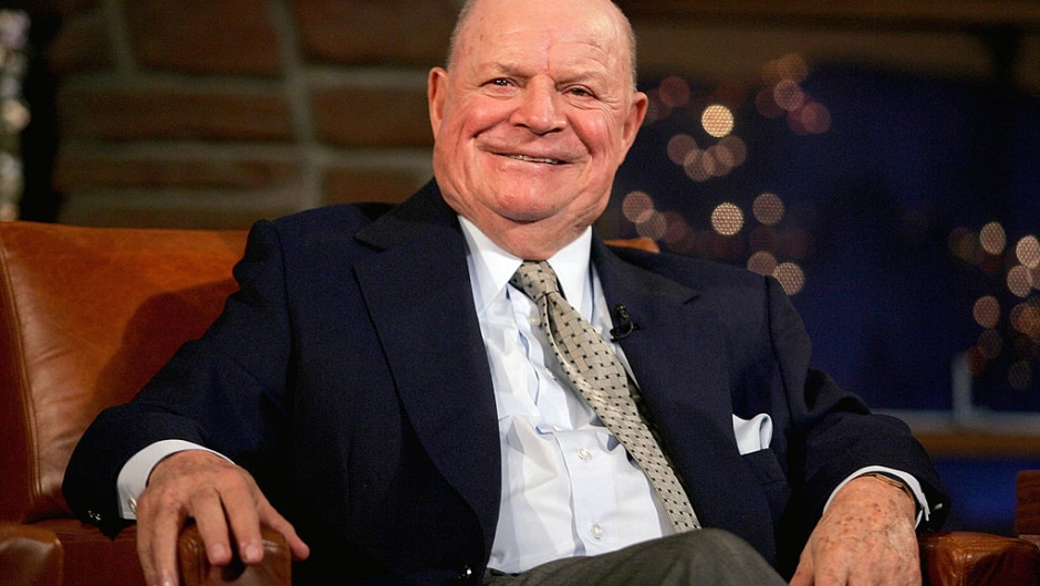 "LOS ANGELES - MARCH 1: Comedian Don Rickles appears on the ""Late Late Show"" with host Craig Ferguson at CBS Television City on March 1, 2005 in Los Angeles, California. (Photo by Mark Mainz/Getty Images)"