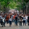 """Venezuela's Central University students march to the education ministry, during a protest against President Nicolas Maduro, in Caracas on May 8, 2017. Venezuela's opposition mobilized Monday in fresh street protests against President Nicolas Maduro's efforts to reform the constitution in a deadly political crisis. Supporters of the opposition Democratic Unity Roundtable (MUD) gathered in eastern Caracas to march to the education ministry under the slogan """"No to the dictatorship."""" / AFP PHOTO / FEDERICO PARRA (Photo credit should read FEDERICO PARRA/AFP/Getty Images)"""