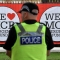 Police officers patrol around Old Trafford Cricket Ground ahead of the One Love Manchester tribute concert in Manchester on June 4, 2017. Nearly two weeks after a deadly suicide bombing at her concert in Manchester, US star Ariana Grande is planning to press ahead with a charity gig later on Sunday despite a terror attack on the streets of London. / AFP PHOTO / Anthony Devlin (Photo credit should read ANTHONY DEVLIN/AFP/Getty Images)