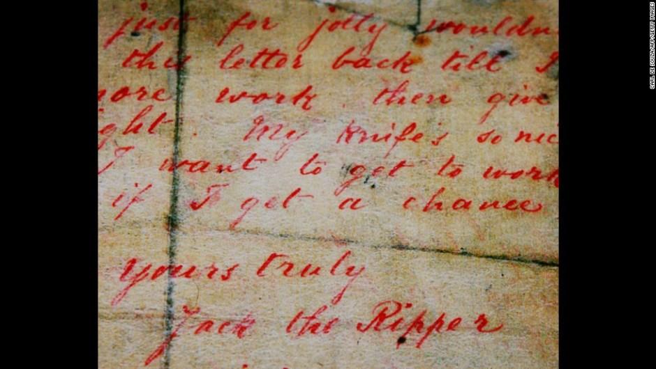 Grandes misterios en la Historia – El nombre de Jack el Destripador viene de una carta enviada en 1888 a la policía de Londres, pretendiendo ser el asesino de cinco prostitutas.