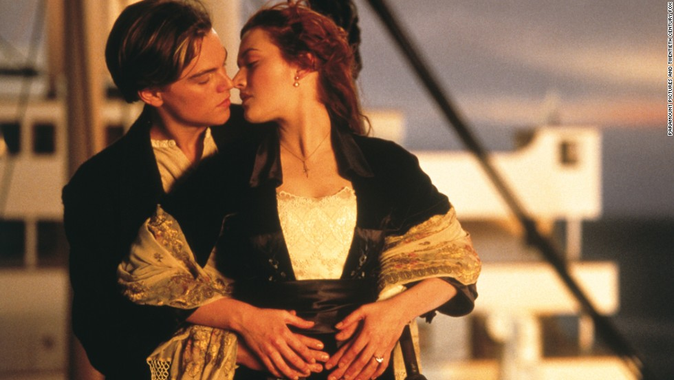 Left to right: Leonardo DiCaprio plays Jack Dawson and Kate Winslet plays Rose DeWitt in TITANIC, from Paramount Pictures and Twentieth Century Fox.