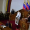 Venezuelan President Nicolas Maduro addresses the all-powerful pro-Maduro assembly which has been placed over the National Assembly and tasked with rewriting the constitution, in Caracas on August 10, 2017. Recent demonstrations in Venezuela have stemmed from anger over the installation of the all-powerful Constituent Assembly that many see as a power grab by the unpopular President Maduro. The dire economic situation also has stirred deep bitterness as people struggle with skyrocketing inflation and shortages of food and medicine. / AFP PHOTO / RONALDO SCHEMIDT (Photo credit should read RONALDO SCHEMIDT/AFP/Getty Images)