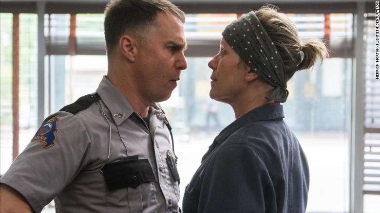 Sam Rockwell and Frances McDormand in the film THREE BILLBOARDS OUTSIDE EBBING, MISSOURI. Photo by Merrick Morton.???? 2017 Twentieth Century Fox Film Corporation All Rights Reserved