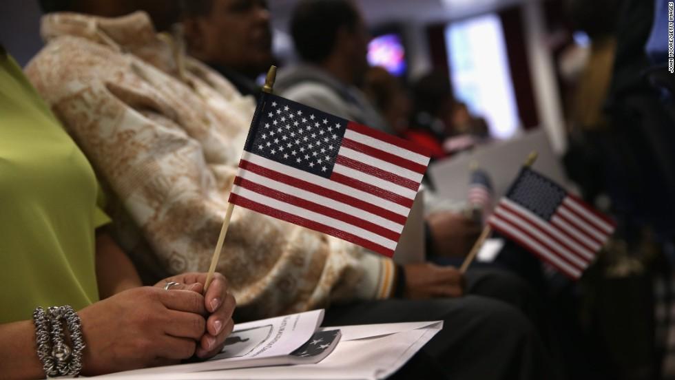 Banderas de Estados unidos en Nueva York