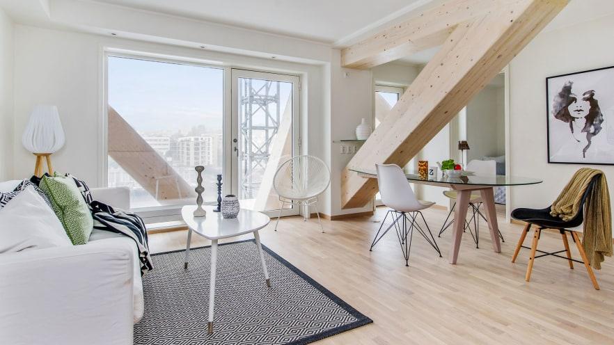 El Treet fue concluido en 2014 y tiene 14 pisos. Foto: Morten Pedersen