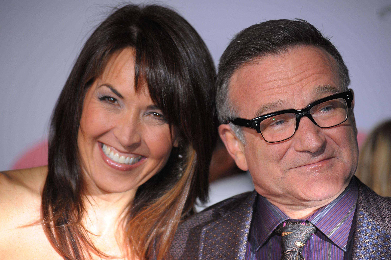 El actor Robin Williams y su esposa. Imagen de archivo. Suicidio, muerte, actor, famoso, epidemia, aumentan
