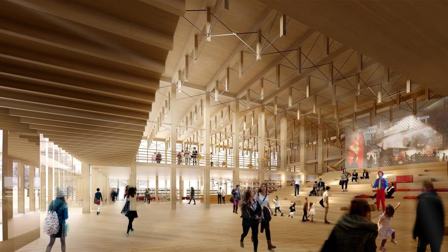 Se espera que el edificio esté completado en 2019. Foto: cortesía de White Arkitekter.