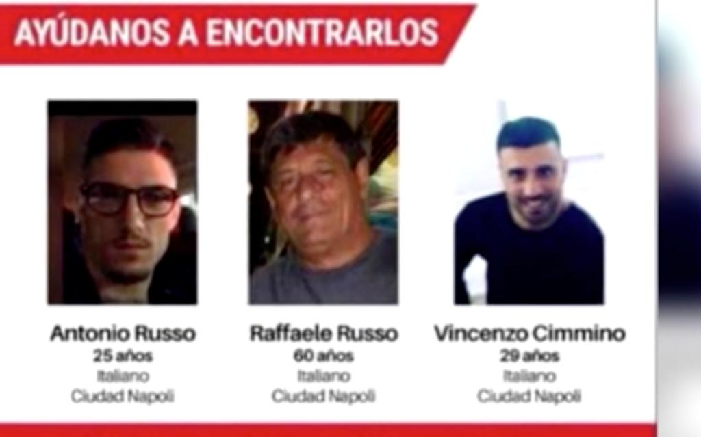 Rafaelle y Antonio Russo y Vicenzo Cimmino. italianos desaparecidos en Jalisco, México