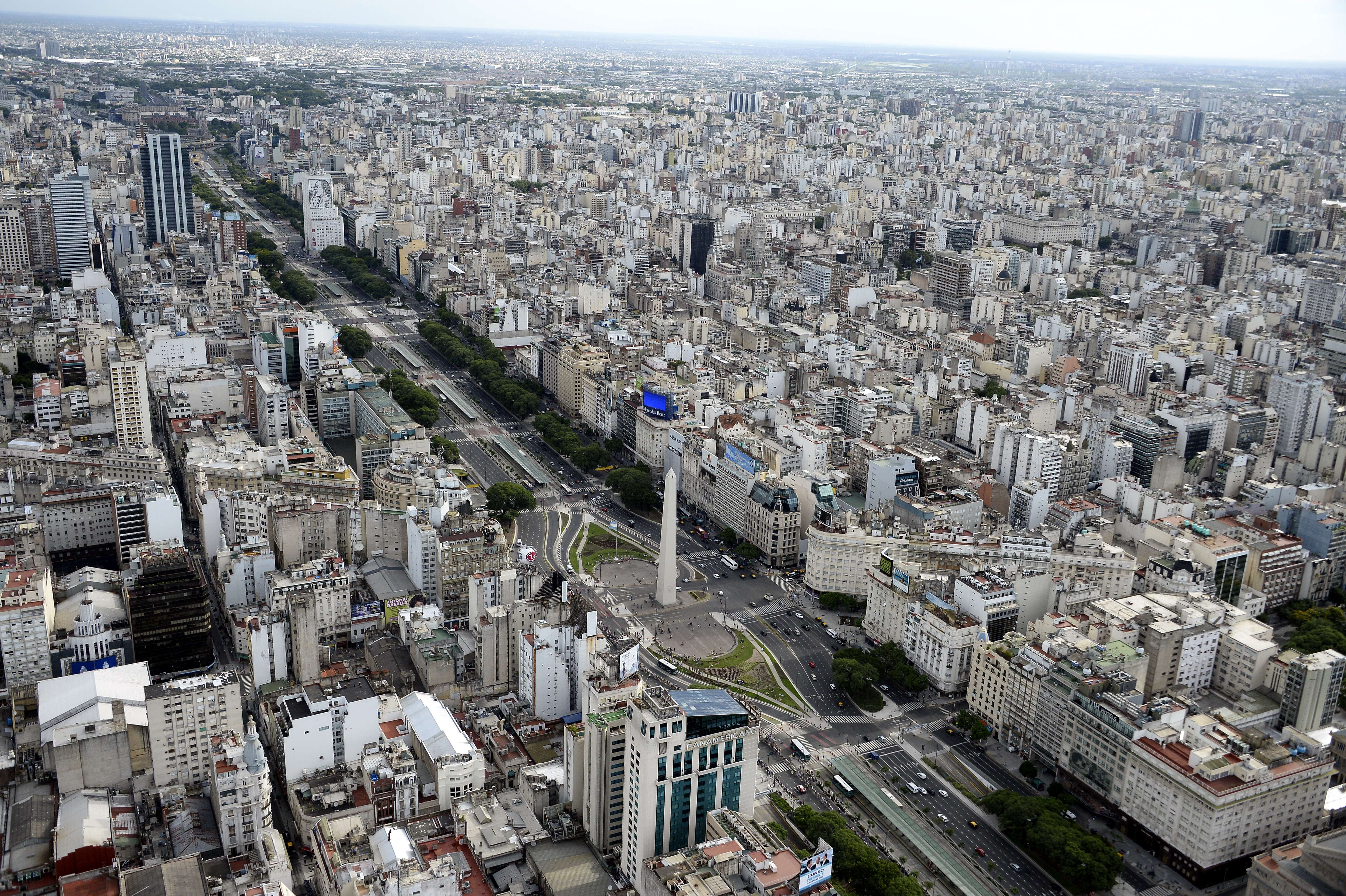 Aerial picture taken over Buenos Aires, Argentina, on January 3, 2015. AFP PHOTO / FRANCK FIFE (Photo credit should read FRANCK FIFE/AFP/Getty Images)