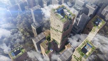 La empresa japonesa Simitomo Forestry está construyendo la torre W350 en Tokyo. Foto: Sumitomo Forestry Co. Ltd.