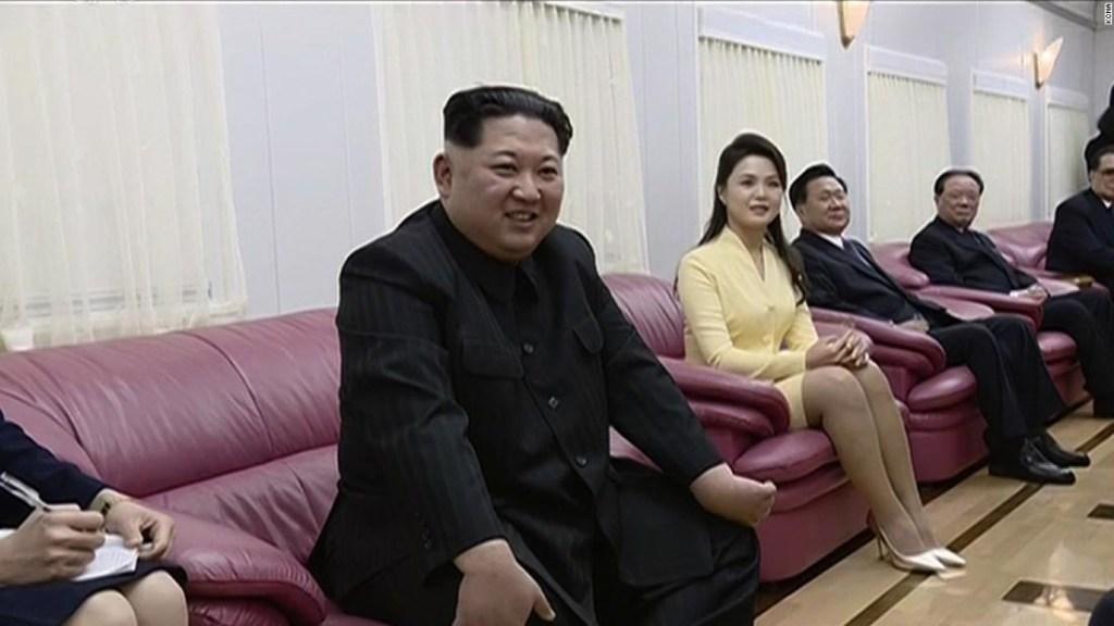 Kim Jong Un en su tren blindado de camino a China.