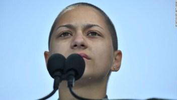 Emma Gonzalez, sobreviviente del tiroteo de Parkland, Florida.