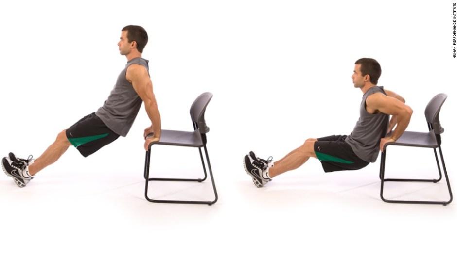 Triceps dip: trabajas el tronco superior