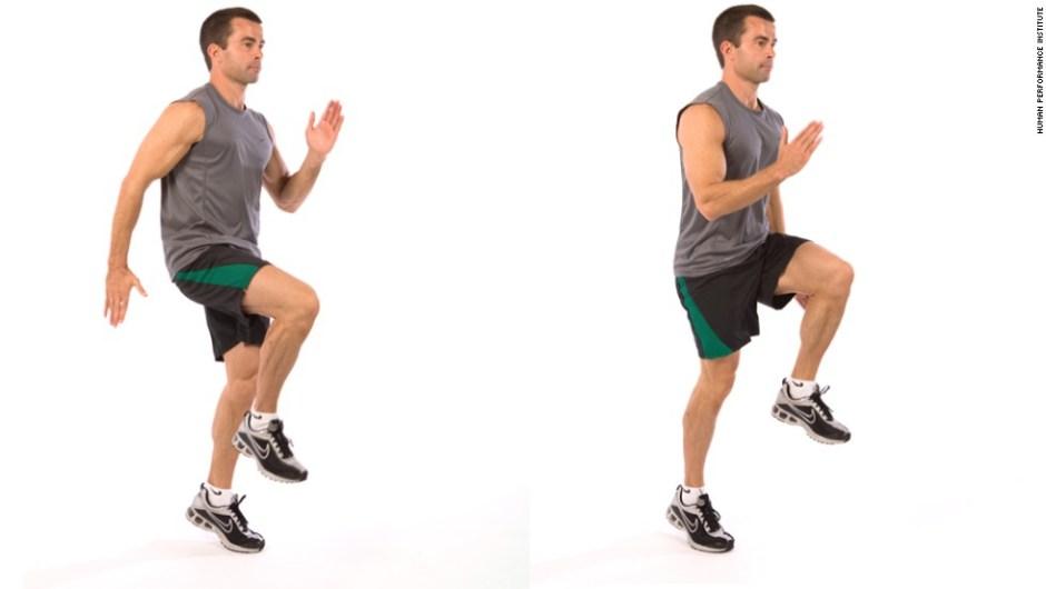 Subir las rodillas para trabajar todo el cuerpo