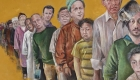 Este artista retrata a líderes del mundo como refugiados