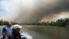 Las llamas no se aplacan en reserva natural en Nicaragua