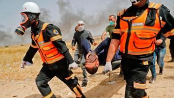 Cientos de heridos en protesta palestina