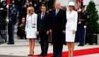 Así recibió Trump a Macron en Washington