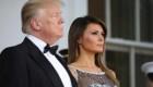 Melania Trump se luce organizando la cena de Estado