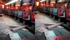 Lima: quema a su novia en un autobús