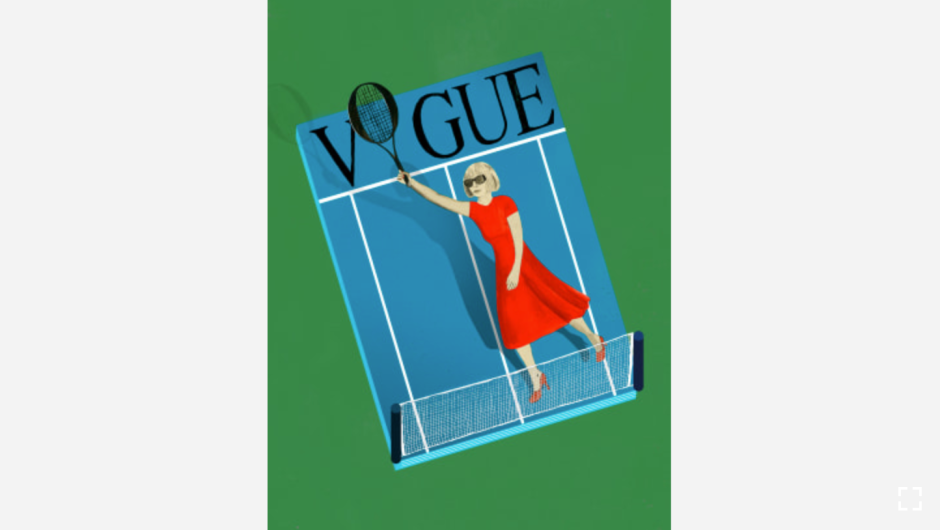 """La editora jefe de Vogue, Anna Wintour, empieza cada día con una hora de tenis. (Crédito: """"Recipes for Good Luck"""", por Ellen Weinstein, publicado por Chronicle Books 2018)."""
