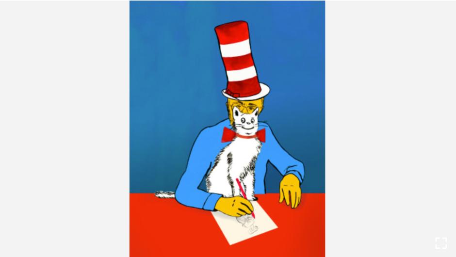 """El autor e ilustrador Theodor Seuss Geisel (también conocido como Dr. Seuss) tenía una colección de más de 300 sombreros. Se los ponía cuando se bloqueaba. (Crédito: """"Recipes for Good Luck"""", por Ellen Weinstein, publicado por Chronicle Books 2018)."""