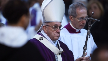 El papa Francisco el 14 de febrero de 2018. (Crédito: FILIPPO MONTEFORTE/AFP/Getty Images)